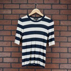 BANANA REPUBLIC Silk Cashmere White Navy Sweater S
